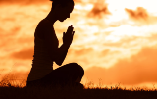 Image of meditating person